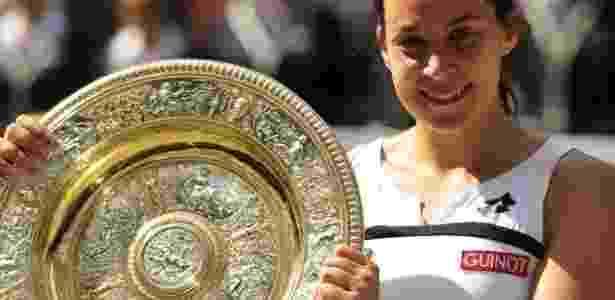 Marion Bartoli foi campeã em Wimbledon - AFP