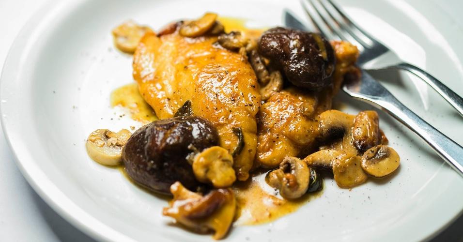 Scaloppine de Frango com Cogumelos