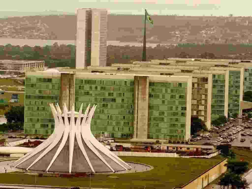 Vista aérea da Esplanada dos Ministérios, na cidade de Brasília (DF) - Eduardo Knapp/Folhapress
