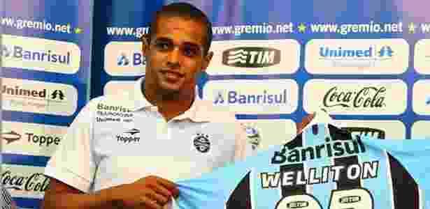 Welliton chegou ao Grêmio em fevereiro, mas não conseguiu jogar bem - Divulgação/AI Grêmio