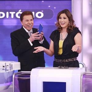 Silvio Santos e Lívia Andrade