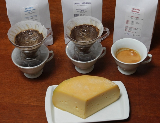 Harmonização entre café e queijo no Coffee Lab