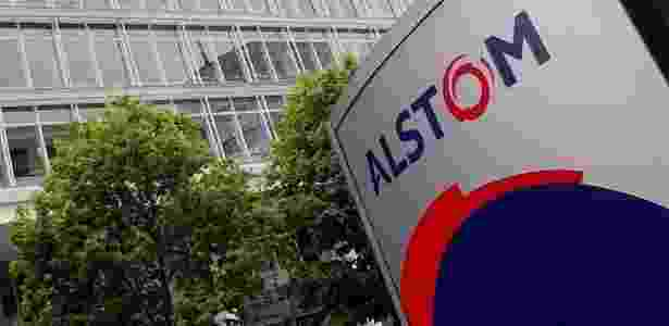 Frente da sede da Alstom na Suíça, empresa envolvida em denúncias no estado de São Paulo - Efe