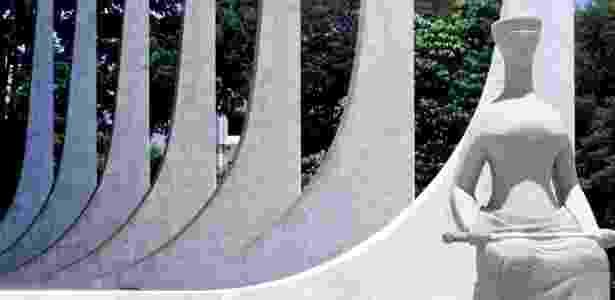 Estátua simbolizando a Justiça em frente à sede do Supremo Tribunal Federal (STF), na praça dos Três Poderes, em Brasília (DF) - Bruno Stuckert/Folhapress - Bruno Stuckert/Folhapress