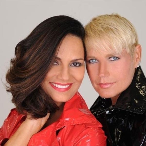 Xuxa Meneghel e a amiga Luiza Brunet