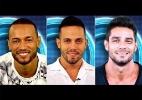 Nudez e falta de afinidade levaram Diego, João e Valter ao paredão (Foto: Divulgação/TV Globo /Montagem BOL)