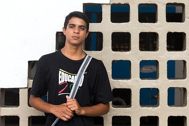Jonathan Silva, 20, foi aprovado na federal de Sergipe pelo sistema de cotas