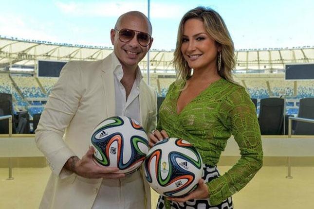 Fifa anuncia Claudia Leitte, Pitbull e J.Lo como cantores da música da Copa em evento no Rio