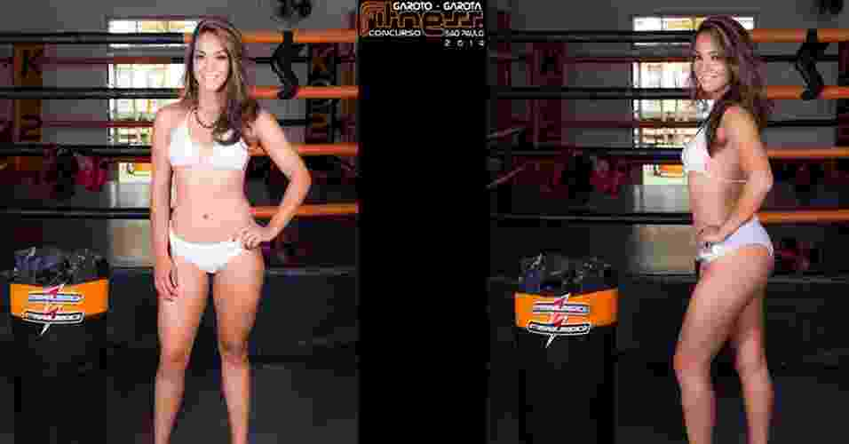 Esta é Gisele, 26 anos, representante comercial, de Jandira - John Edgard/Academia K@2/Fitness Model Agency