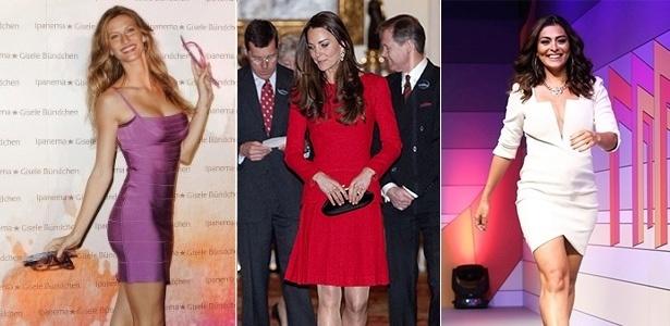 Gisele Bündchen, Kate Middleton e Juliana Paes - Getty Images/Foto Rio News/Montagem/UOL