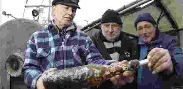 Pescadores encontram garrafa com mensagem escrita 101 anos atrás - Uwe Paesler/Efe