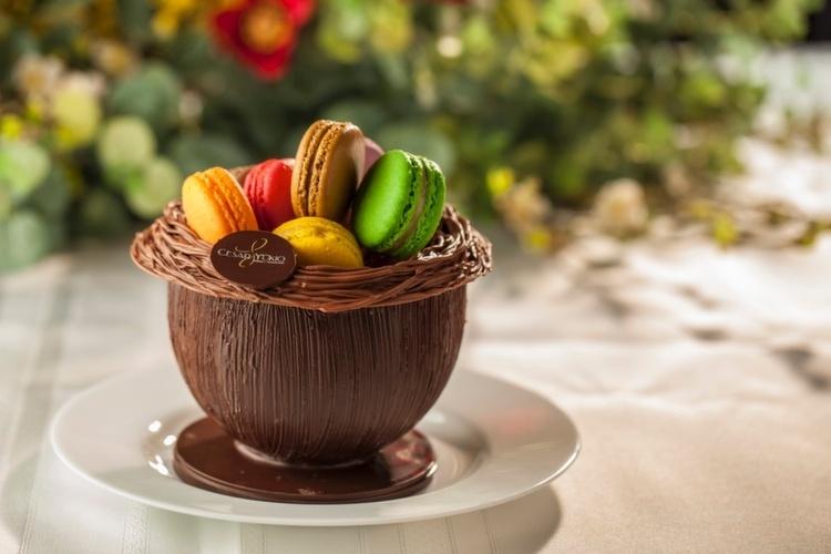 Ovo Ninho de macarons Cesar Yukio