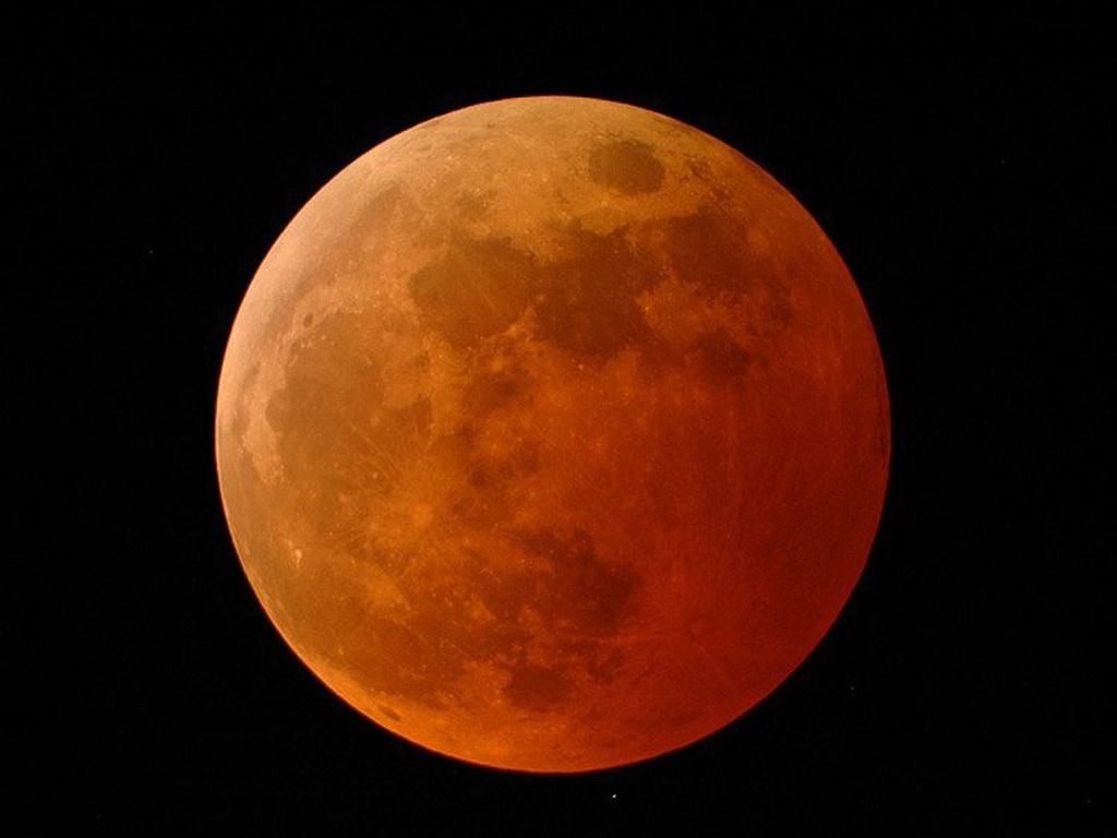 Lua de sangue eclipse lunar