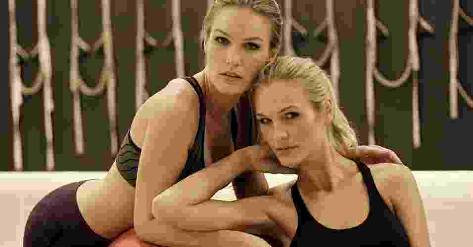 """Morgane e Mônica Martin - gêmeas da série """"O Caçador"""" - abre do álbum - Reinaldo Canato/UOL. Agradecimento: Academia Bodytech"""