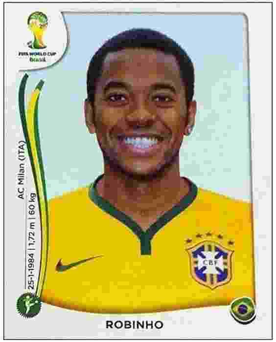 Figurinha do Robinho no álbum da Copa - Reprodução