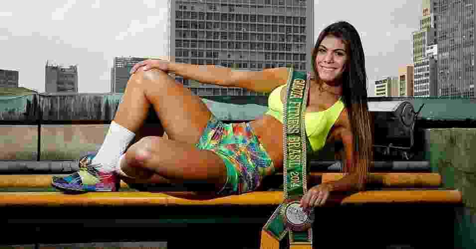 Priscilla Carvalho - Garota Fitness Brasil 2014 - abre do álbum - Reinaldo Canato/UOL. Agradecimento: K@2 Academia, Fitness Model Agency e Vestem