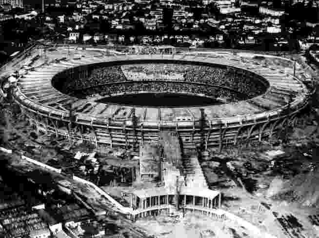 Visão do Maracanã durante a final da Copa do Mundo de 1950 - Popperfoto/Getty Image