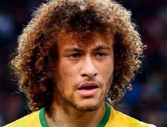 Neymar com cabelo de David Luiz