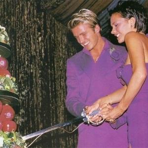 David Beckham se casou de roxo, assim como sua noiva