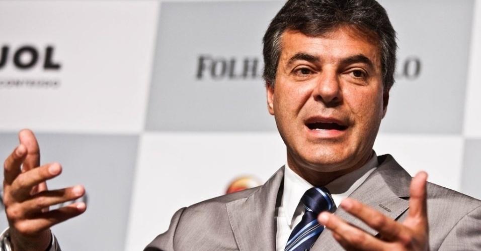 Beto Richa, governador do Paraná, durante sabatina Folha-UOL