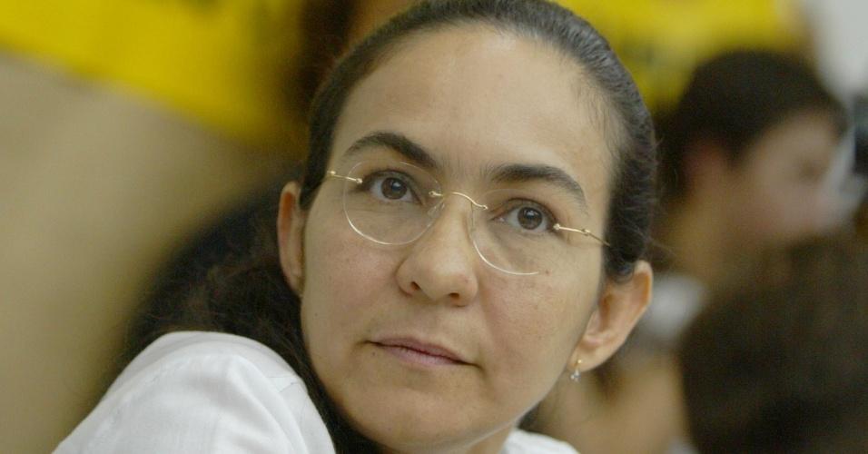 13-12-2011: A senadora Heloísa Helena participa de debate sobre o governo Lula, na Faculdade de História da USP, em São Paulo (SP)