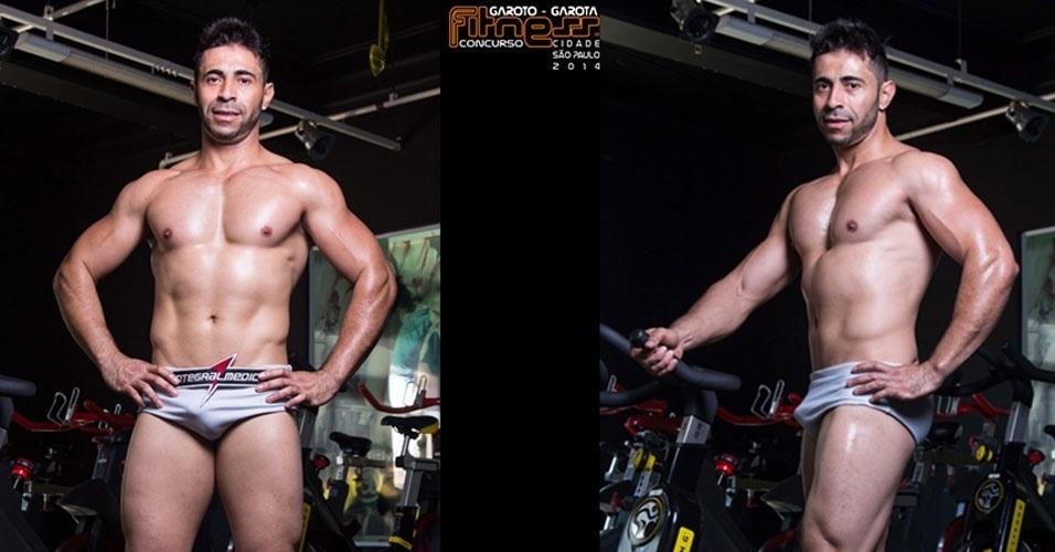Este é Alex, 33, pintor de São Miguel Paulista e finalista para Garoto Fitness cidade de São Paulo 2014