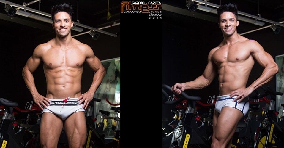 Este é Carlisson, 28, modelo de São Paulo e finalista para Garoto Fitness cidade de São Paulo 2014