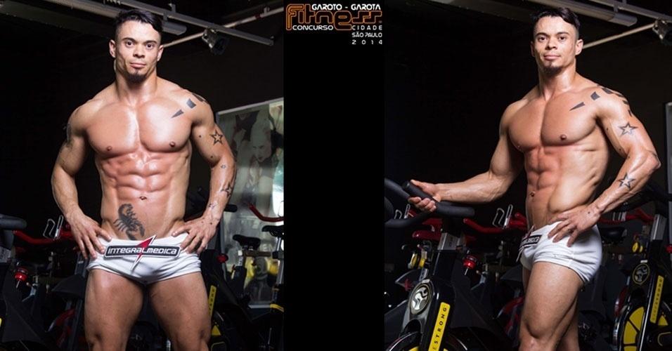 Este é Cristiano, 29, mecânico de elevadores de São Paulo e finalista para Garoto Fitness cidade de São Paulo 2014