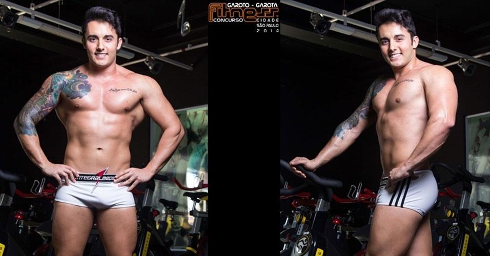 Este é Filipe, 24, estudante de Nutrição de São Paulo e finalista para Garoto Fitness cidade de São Paulo 2014
