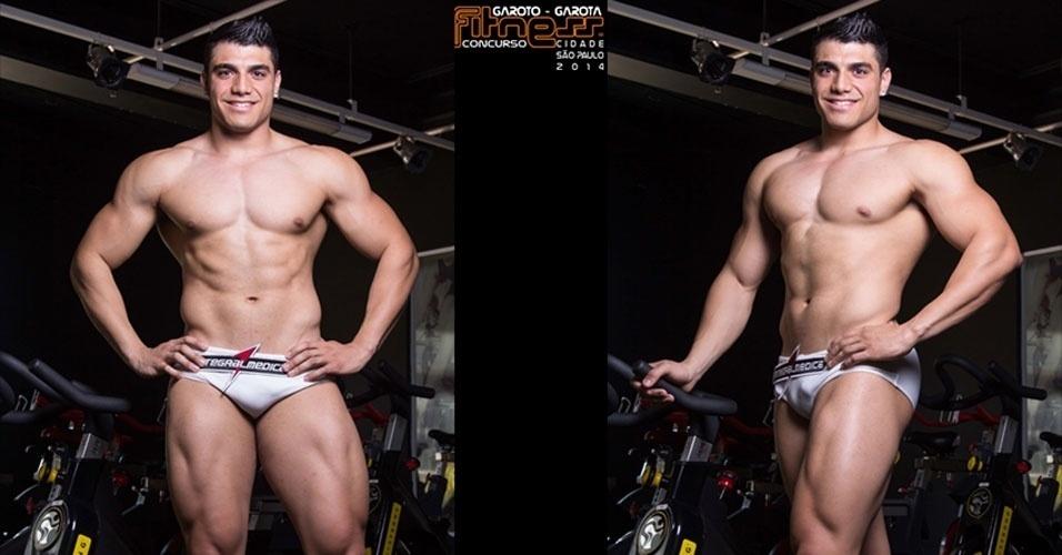 Este é Gustavo, 21, proprietário de academia de São Paulo e finalista para Garoto Fitness cidade de São Paulo 2014