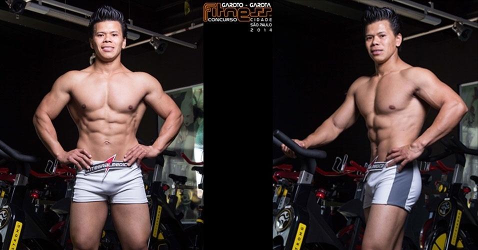 Este é João, 28, marceneiro de Embu das Artes e finalista para Garoto Fitness cidade de São Paulo 2014