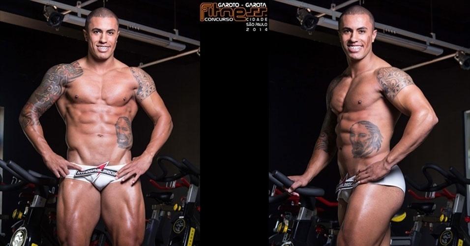 Este é Johny, 23, personal trainer, de Campinas e finalista para Garoto Fitness cidade de São Paulo 2014