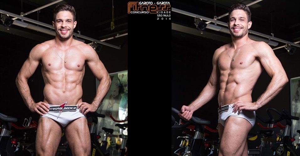 Este é Julian, 28, personal trainer de Capão Bonito e finalista para Garoto Fitness cidade de São Paulo 2014