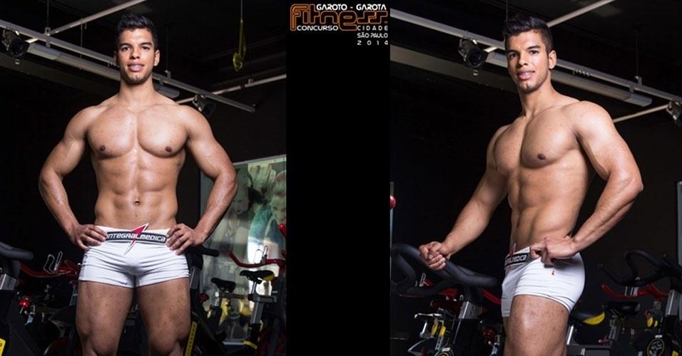 Este é Luan, 21, inspetor de qualidade de Piracicaba e finalista para Garoto Fitness cidade de São Paulo 2014