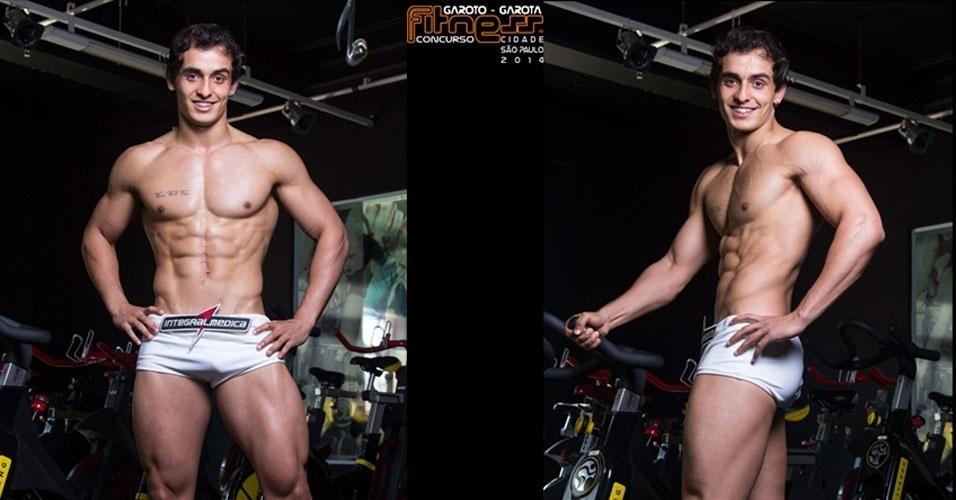 Este é Luiz, 22, auxiliar administrativo de São Paulo e finalista para Garoto Fitness cidade de São Paulo 2014