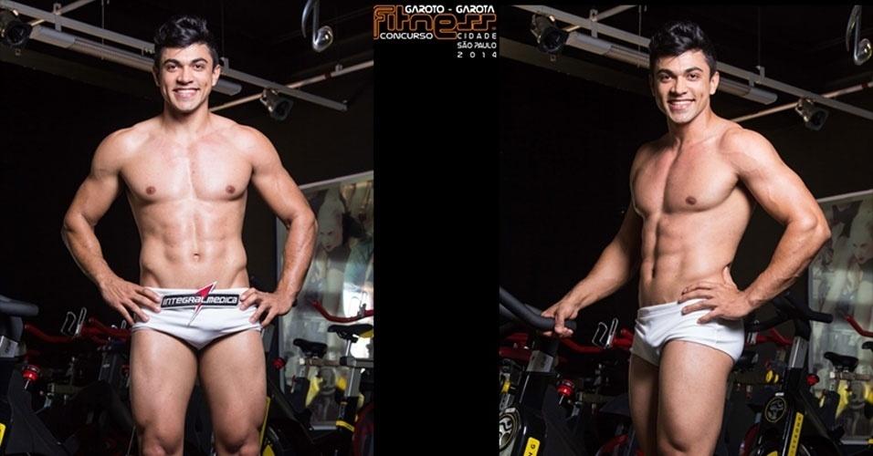 Este é Luiz, 23, operador de centro de usinagem de Araras e finalista para Garoto Fitness cidade de São Paulo 2014