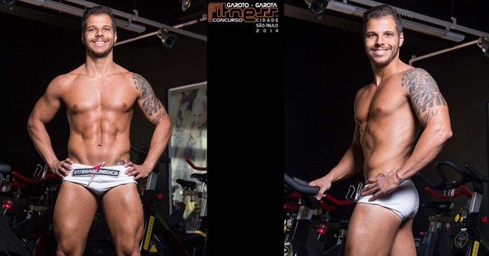 Este é Paulo, 33, fisioterapeuta de São Paulo e finalista para Garoto Fitness cidade de São Paulo 2014