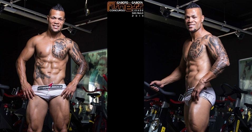 Este é Wilson, 33, personal trainer de São Paulo e finalista para Garoto Fitness cidade de São Paulo 2014