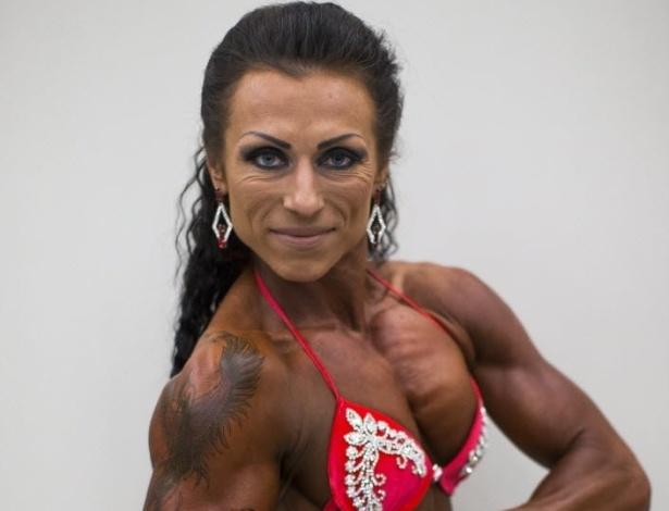 26.set.2014 - Concorrente posa para foto durante o evento de fisiculturismo (bodybuilding) Arnold Classic Europa em Madri, na Espanha