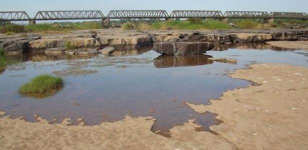 Seca no rio São Francisco em Pirapora (MG)