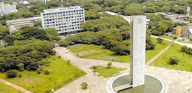 Vista da Praça do Relógio, na Cidade Universitária da USP, em São Paulo