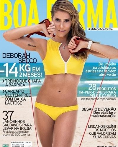 Deborah Secco - atriz - capa da Boa Forma de novembro