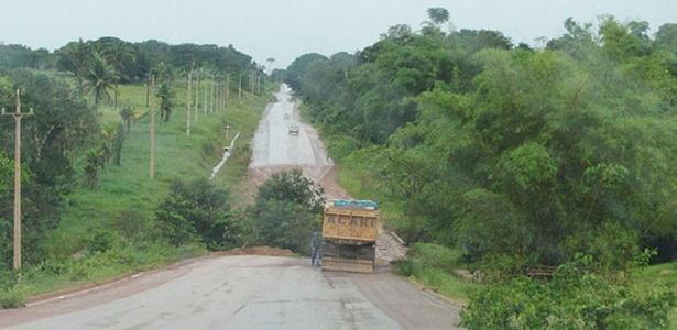 Obras da rodovia BR-163, uma das suspeitas de ter tido propina segundo executivos da Mendes Júnior