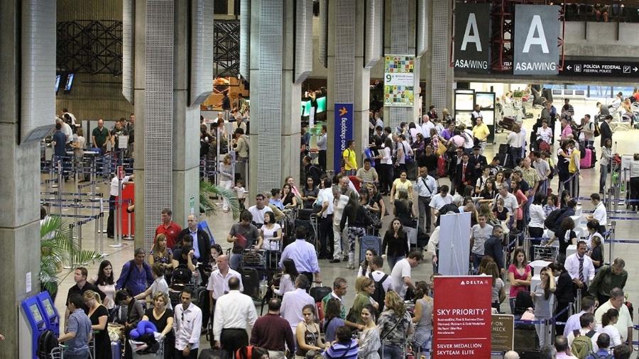 Saguão do Aeroporto Internacional de Guarulhos - Luiz Guarnieri/AE