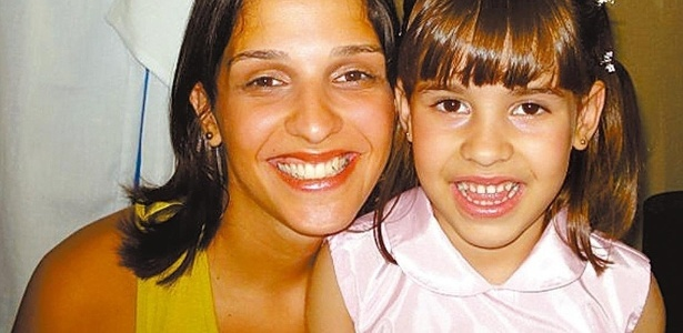 Ana Carolina Oliveira com a filha, Isabella