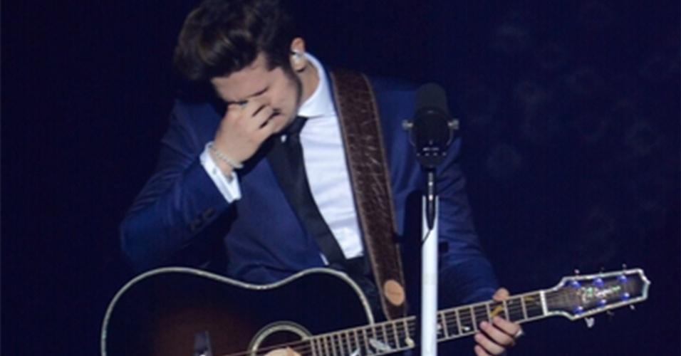 17.dez.2014 - Luan Santana grava seu quarto DVD em grande show no Estúdio Quanta, zona oeste de São Paulo, na noite desta quinta-feira