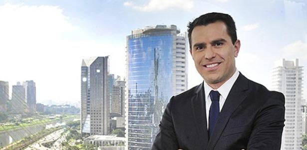 O âncora Rodrigo Bocardi no cenário do Bom Dia São Paulo - Reinaldo Marques/Divulgação/TV Globo