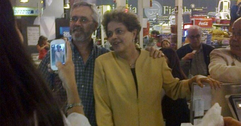 dilma no mercado no uruguai