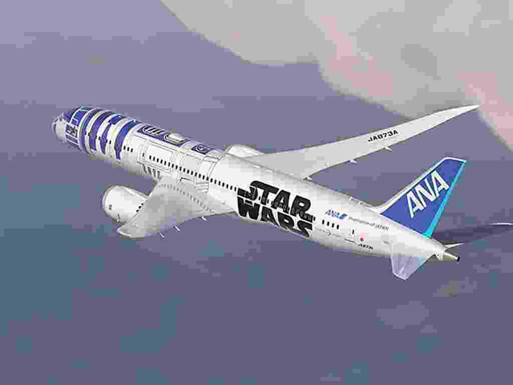 Companhia japonesa lança boeing inspirado na franquia Star Wars - All Nipon Airways/AFP
