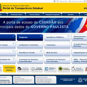 Portal de Transparência São Paulo; Lei de Acesso à Informação - Reprodução